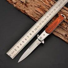 225mm 5CR15MOV Blade Quick Open Knives Outdoor Portable Pocket Camping Folding