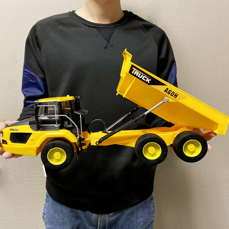 1: 18 Super Large Die Casting Simulation Toy Rotary Excavator Truck Boy Model Birthday Collection Gift Section 4 Model Car