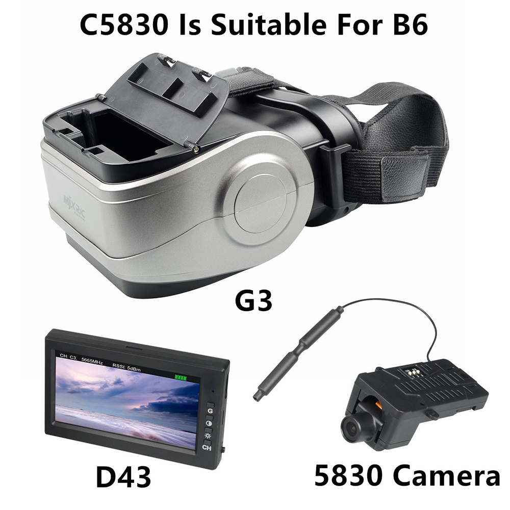MJX B3 C5830 Camera Fit B6 RC Helicopter Spare Parts D43 LCD Screen G3 Goggles 5.8g FPV Real-time Image Transmission image
