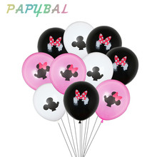 Balloons Latex Minnie Shower Birthday-Party-Decorations Mouse-Party Disney Mickey 10pcs