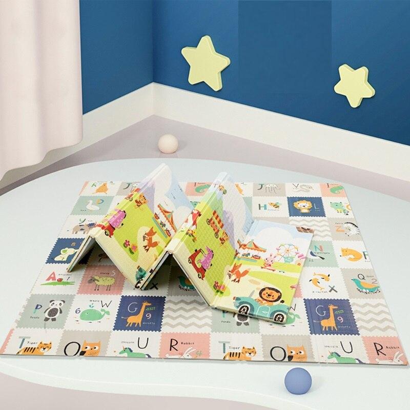 접이식 아기 놀이 매트 Xpe 퍼즐 교육 어린이 카펫 보육 등산 패드 키즈 러그 Activitys 게임 완구