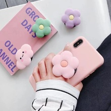 1 PC Cute Phone Ring Buckles Silicone Telescopic Folding Pho