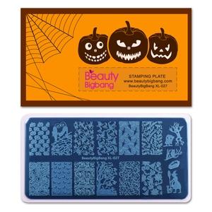 Image 2 - BeautyBigBang Nail Stamping Piatti Halloween Spider Skull Zucca Strega Immagine Unghie Artistiche Template Stencil Per Nail BBB XL 027