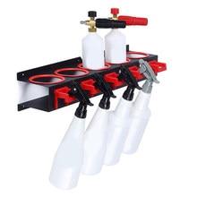 Spray garrafa de armazenamento rack abrasivo material pendurado ferroviário carro beleza loja acessório exibição de limpeza automática detalhando ferramentas cabide
