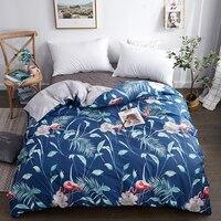 2019 primavera folha de árvore azul capa edredão 100% algodão conjuntos de cama 150*200 cm  160*210 cm  180*220 cm  200*230 cm  220*240 cm  * cm colcha|Capa de edredom| |  -