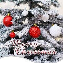50 шт Рождественская елка Декор шар-безделушка рождественские вечерние Висячие шар, украшение, Декор рождественские украшения для дома подарок# es