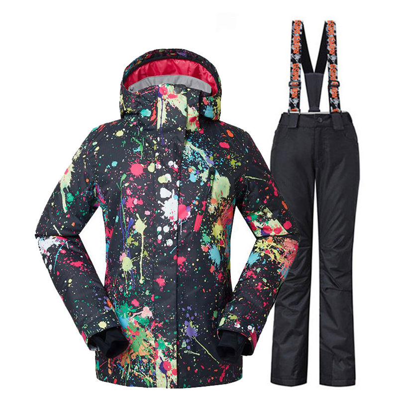 Fashion GS Women's Snow Suit Sets 10K Waterproof Windproof Outdoor Sports Wear Snowboarding Costume Snow Pants And Ski Outfit