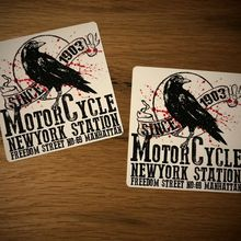 Motociclista otoño Vintage motocicleta Crow USA Chopper Bobber vieja escuela #014
