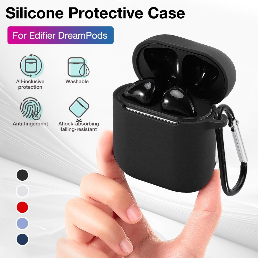 Новый высокое качество силиконовый защитный чехол для Edifier DreamPods связь Bluetooth наушники гарнитуры 5.0 чехол с крюком