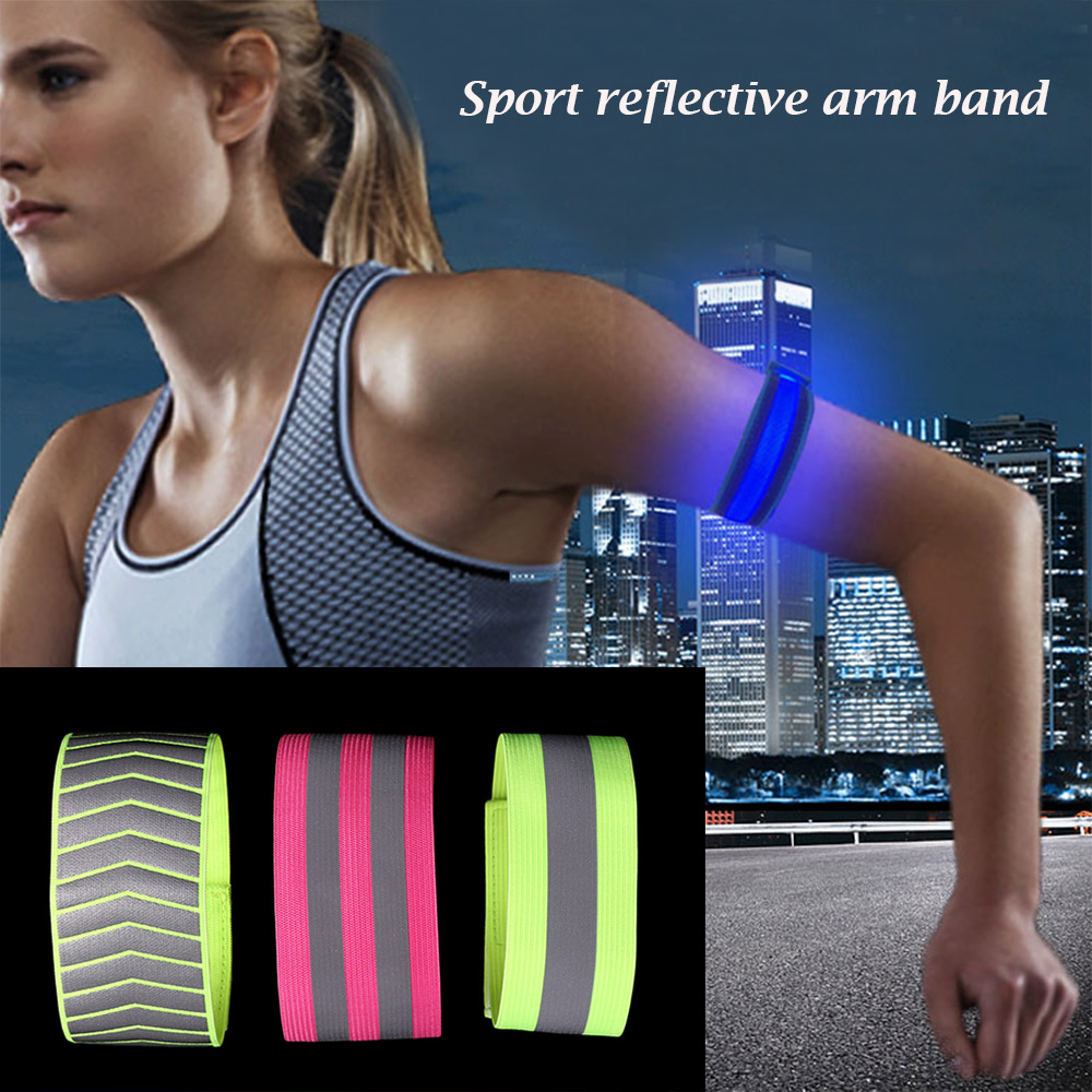 1pc Warning Wristband Reflective Tape Safety Armband Bicycle Bind Pants Hand Leg Strap Running Cycling Reflective Strips To Invigorate Health Effectively