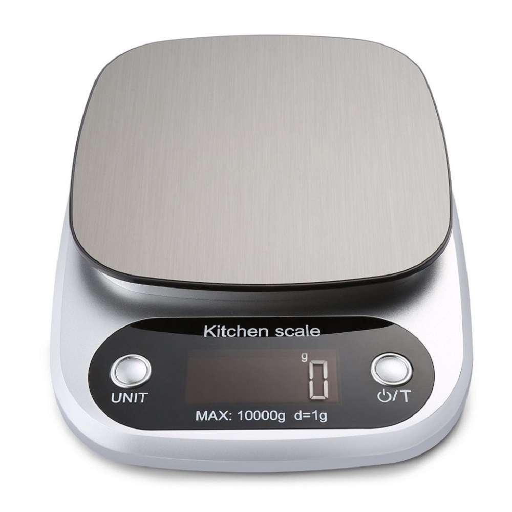 AIRMSEN المنزلية المطبخ مقياس ميزان المطبخ الإلكترونية الخبز مقياس أداة قياس منصات من الفولاذ المقاوم للصدأ مع شاشة الكريستال السائل 1 جرام