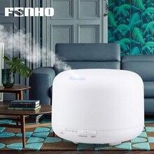 FUNHO 500ml 가습기 에센셜 오일 디퓨저 초음파 아로마 테라피 안개 메이커 7 색 변경 가정용 LED 야간 조명