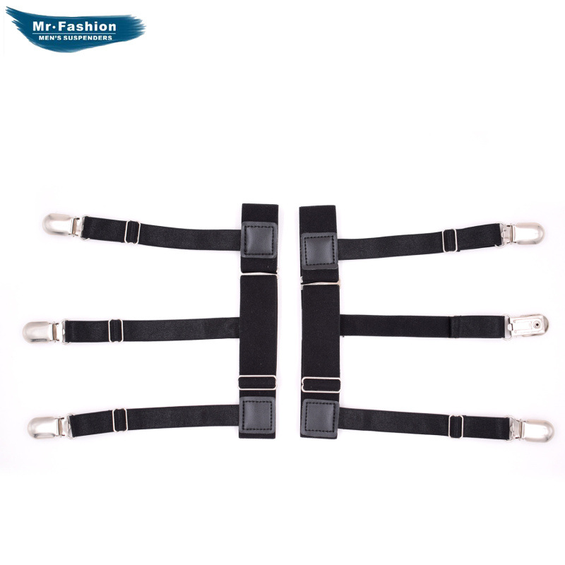 European And American-Style Men's Shirt Wrinkle-Free Leg Ring Garter Clip Chinlon Ultra-stretch Thick Garter