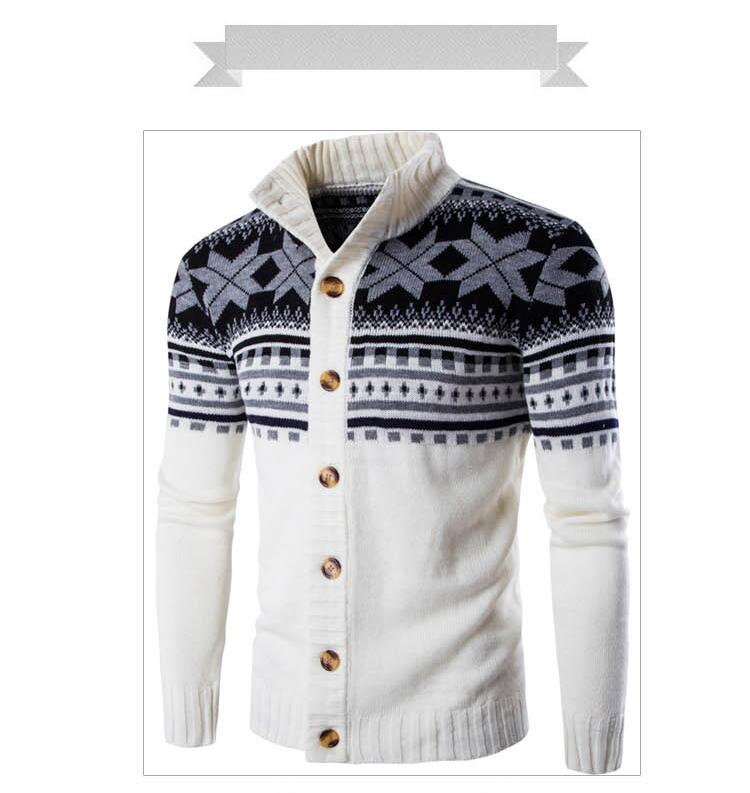 New Autumn Winter  Sweaters Men Solid Color Casual Sweater