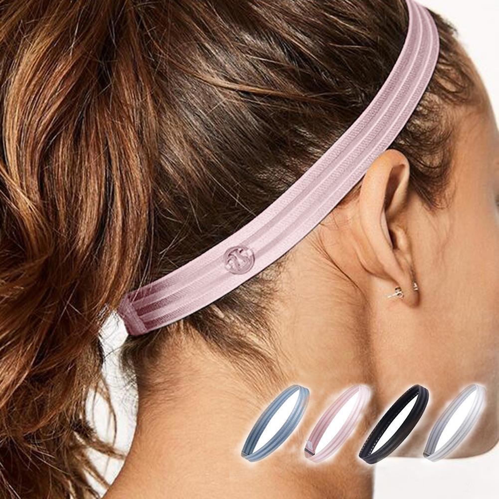 Sport Hairband Running Head Band Sweat Anti-slip Elastic Sweatband For Women Men Badminton Grip Hair Bands Biking Headbands