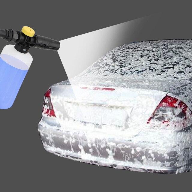 750ML regulowany wysokiej myjki ciśnieniowe dysza opryskiwacza samochodu mydło Generator pianki dla Karcher K2 K3 K4 K5 K6 K7 pianka śnieżna Lance