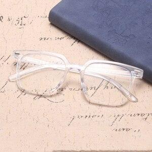 Image 3 - الموضة الكلاسيكية ساحة مكافحة نظارات الضوء الأزرق الرجال نظارات الكمبيوتر للنساء 2020 العلامة التجارية مصمم إطار نظارات شمسية شفافة