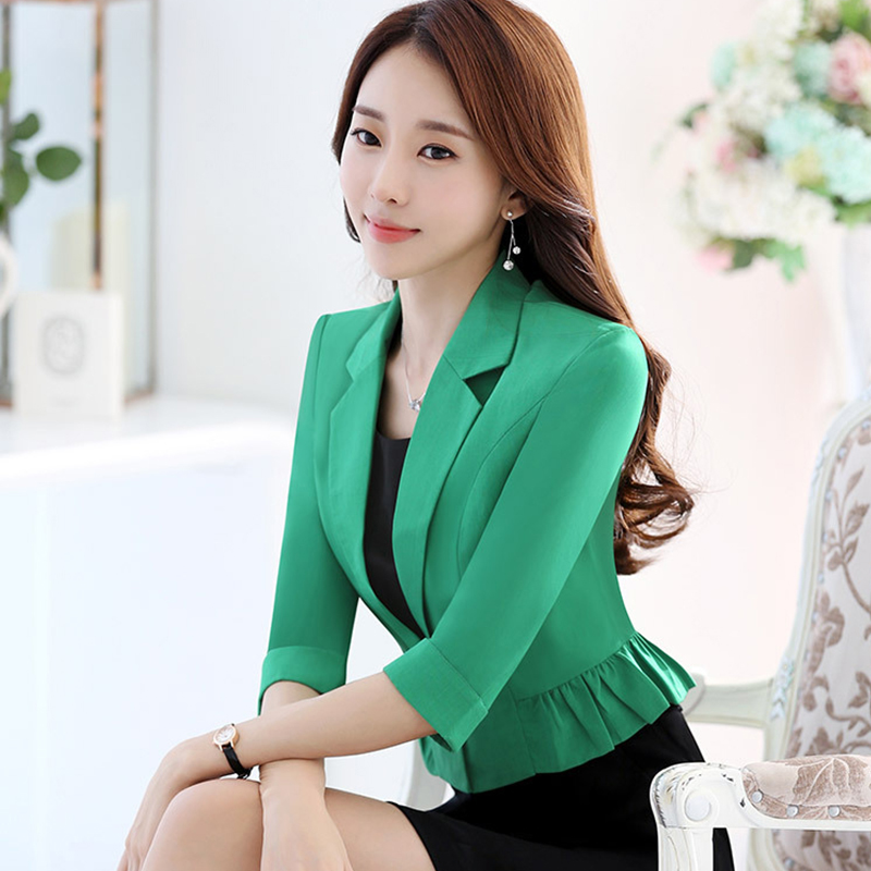 Fanco Spring Fashion Women Slim Blazer Coat Female Jackets Office Ladies Suit Casual Solid Short Outerwear
