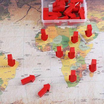 25 50 sztuk strzałka markery mapa drewniane pinezki zdjęcie szpilki tablica korkowa szpilki szpilka tanie i dobre opinie CN (pochodzenie) Metal