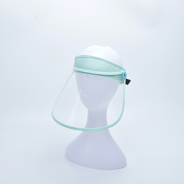 New Protective Cap Anti-droplet Saliva Hair Ring Face Shield HD Transparent Head-mounted Mask Empty Top Hat 2