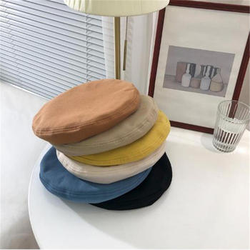 1 PC Fashion Solid Color Beret Caps Brand New Painter Style Multicolor and cozy Cotton Vintage Dome
