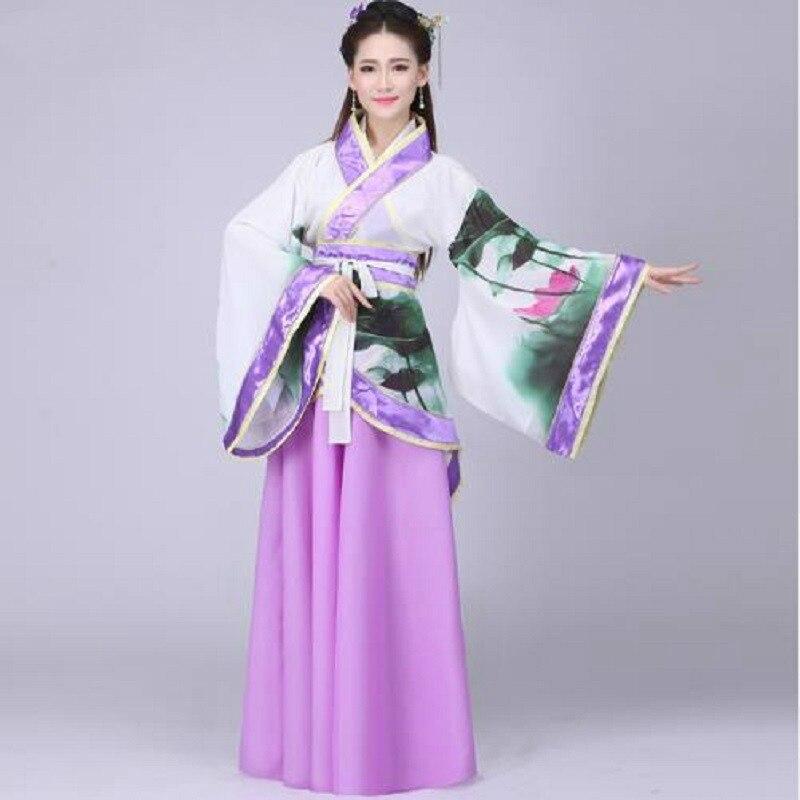 Наряд для танцев; Новинка; летний костюм феи; платье принцессы с цветком лотоса; ханьфу; театральная драма; одежда для выступлений; Одежда