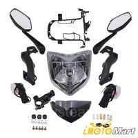 Para yamaha fz1n fz1 n FZ 1N 2006 2012 2007 2008 2009 2010 2011 motocicleta farol head light lâmpada conjunto kit|  -