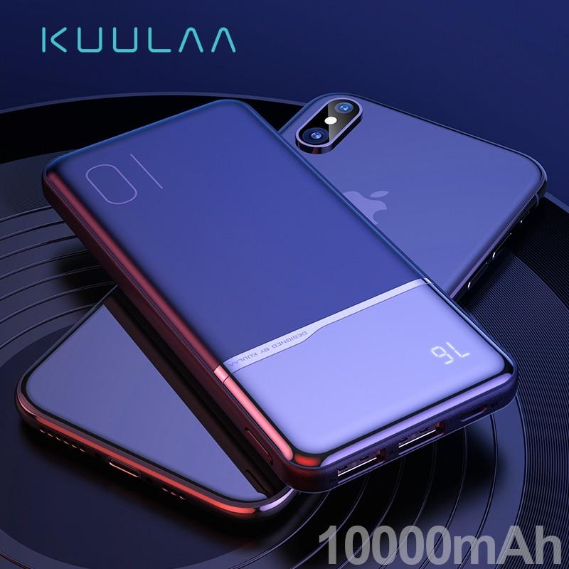 KUULAA powerbank 10000 mah cargador portátil banco de energía 10000 mah para xiaomi mi 9t pro 8 iPhone 11 XR Blackview A80 A60 poverbank