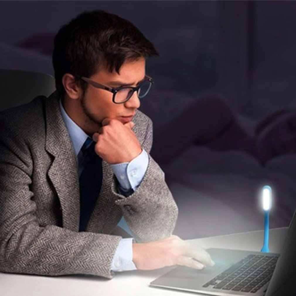 Mini USB LED Lampu Lampu 180 Derajat Disesuaikan Portabel Fleksibel untuk Powerbank PC Laptop Notebook Komputer Kerja Malam
