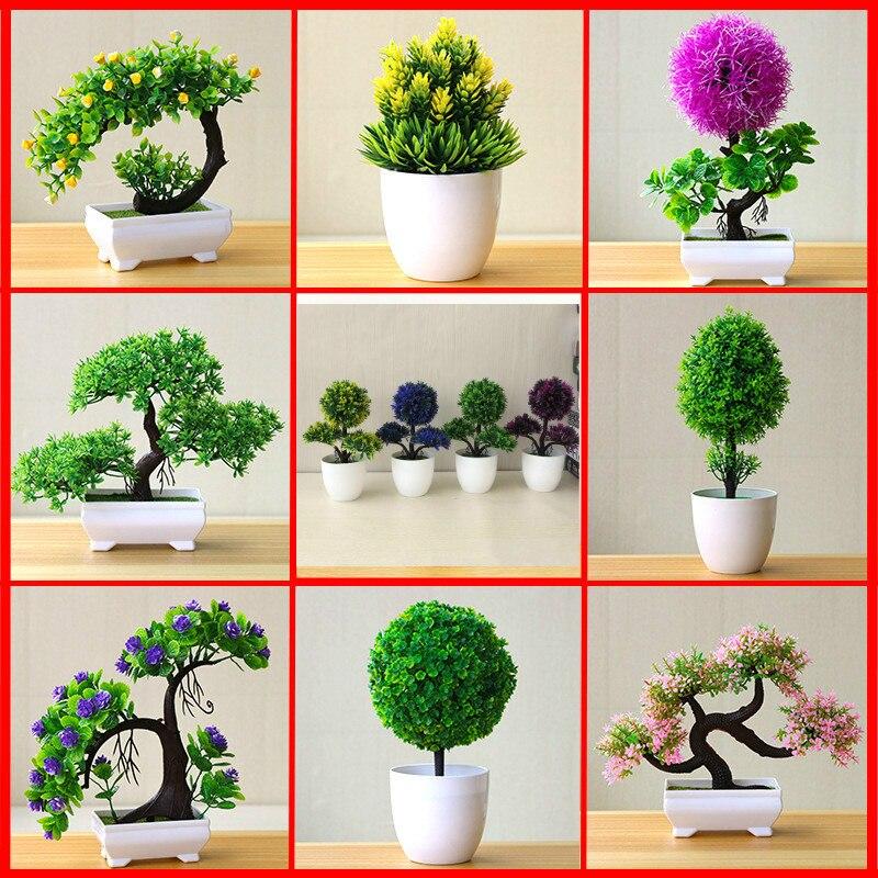 Искусственные растения, бонсай, искусственные цветы для украшения дома, гостиницы, сада, Декор, искусственные растения