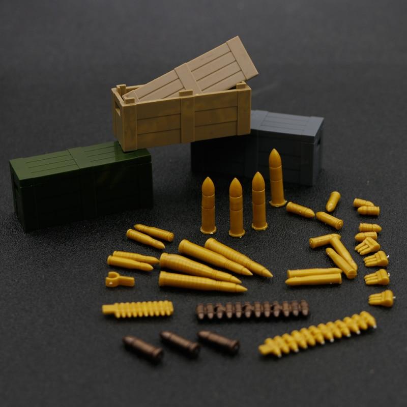Military Building Blocks WW2 Weapons Guns Army Arm Machine Bullet chain Box Bricks Accessories wholesale Sets Toys for children Sperren    - AliExpress