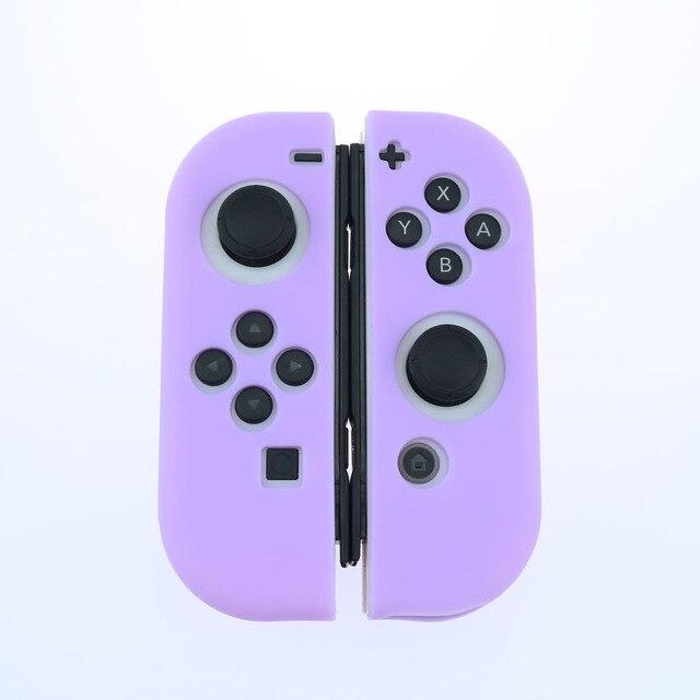 Light Purple Silicone Case For NS Switch Cover Joycon Case Soft Controller Shell Console Protective Controller Joy con Cover