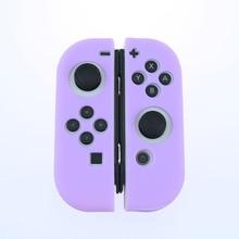 Светильник Фиолетовый силиконовый чехол для NS переключатель Крышка Joycon чехол мягкой оболочки контроллера консоли защитный контроллер Joy con крышка