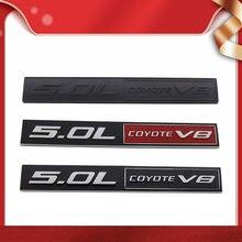 Premium 5.0l coyote v8 5.0l para f150 fx4 mustang gt 5.0 capô do carro fender tronco traseiro bonnet placa de identificação decalque emblema emblema adesivo