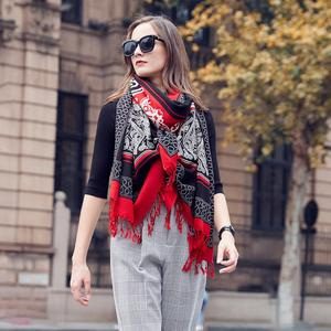 Image 5 - Fashion Winter Scarf For Women Scarf Cashmere Warm Plaid Pashmina Scarf Luxury Brand Blanket Wraps Female Scarves And Shawls