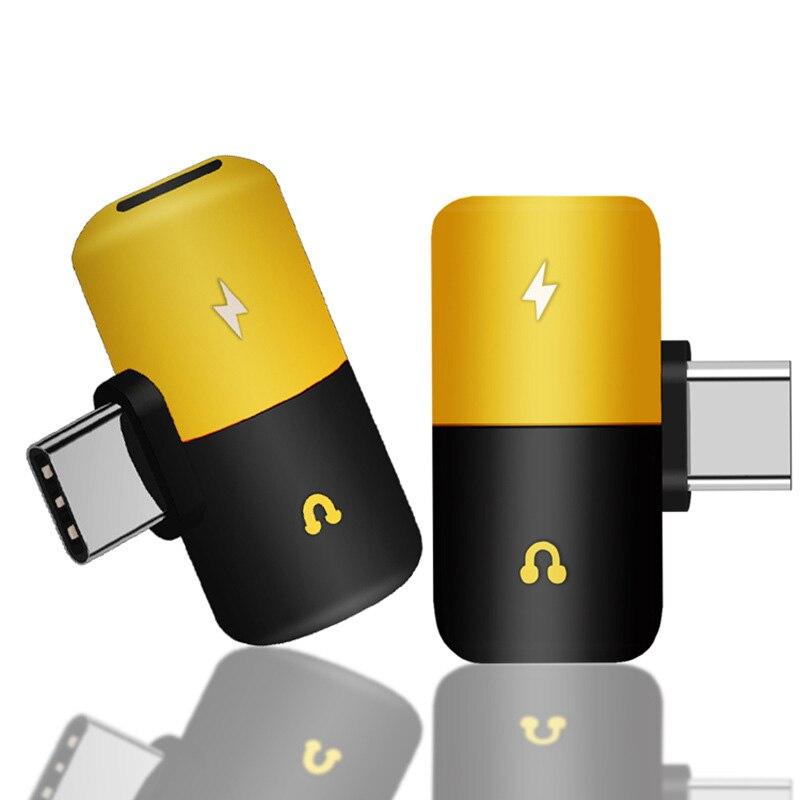 Smart Type C To 3.5mm Jack Earphone Charging Converter USB Type-C Audio Adapter For Xiaomi 6 Huawei Mate 20 Type C Phones