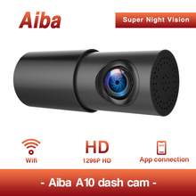 Aiba A10 1080P HD Recorder 24H Parking Car DVR Wifi APP 1080P Dash Cam HD Night Vision G-sensor DashcamCar 170 degree wide angle sinairy car dash cam with wifi car dvr camera app support ios android system recorder 170 degree super wide angle loop recording