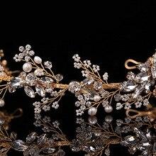 Модные свадебные диадемы в стиле барокко, корона, повязка на голову, заколки для волос, аксессуары для волос, ювелирные изделия, жемчуг, цветок, стразы, лента для волос