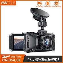 Kamera na deskę rozdzielczą Vantrue X4 4K UHD 3840*2160P Supercapacitor kamera samochodowa 3 ''LCD pojazd Dashcam z trybem parkowania 24H, opcjonalny GPS