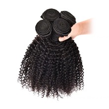 M&H Brazilian Afro Kinky Curly Hair 100% Human Hair Weave Bundles 3 Pieces Natural Color Remy Hair Extensions