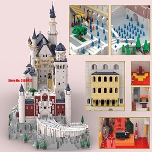 Image 5 - جديد 13500 قطعة حجر البجعة الألماني NeuSchwanstein نموذج قلعة لعب الأطفال فكرة Streetview اللبنات الطوب خبير الخالق هدية