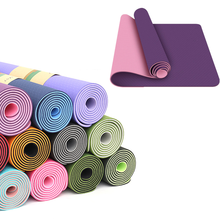 1830*610*6mm Fitness Mat for yoga Non slip Carpet pilates pads Gym exercise beginner yoga matt mats women body shaping tool(China)