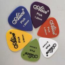 12 24  pieces Alice Guitar Pick Non-slip Black White Plastic Mediator for Acoustic Electric Accessorie Random Color
