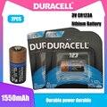 Комплект из 2 предметов, новинка, оригинальный DURACELL 3v 1550 мА/ч, литий Батарея CR123 CR123A CR17345 16340 CR 123A сухой главной ячейки для Камера фонарик