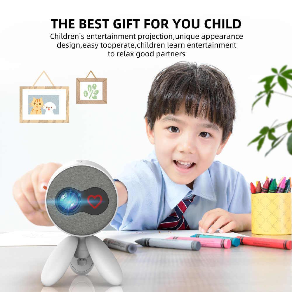 Salange Pico Projector Mini YG220, 480*272 Pixels Ondersteunt 1080P Hdmi Usb 3.5 Mm Audio Mini Beamer Home Media Speler Kids Gift