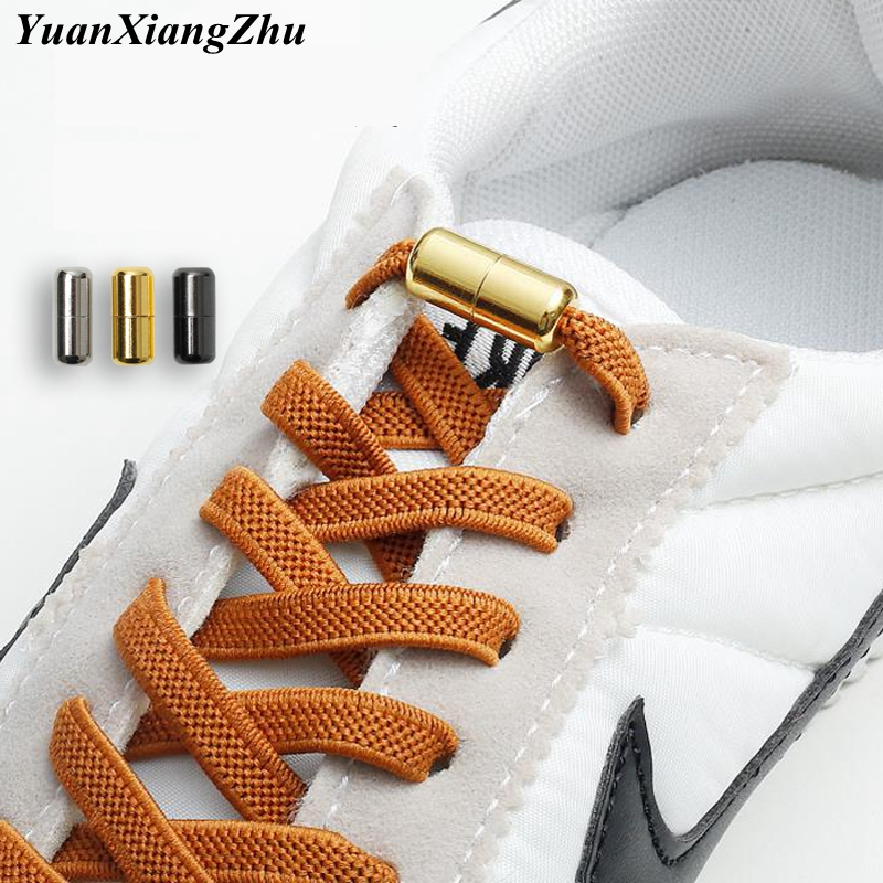 New Flat Elastic Locking Shoelaces No Tie Shoe Laces Special Creative Kids Adult Unisex Sneaker Shoelace Fast Lazy Laces Strings
