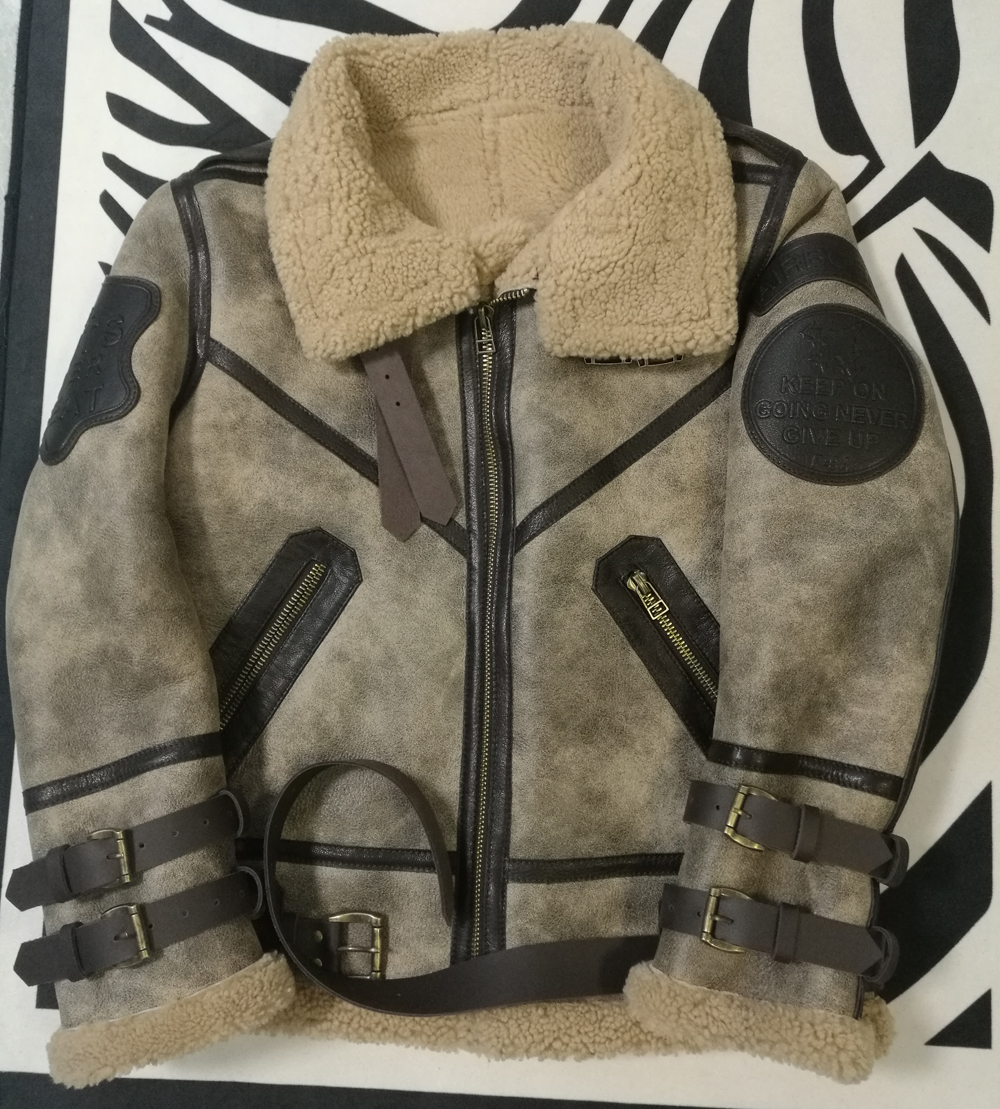 H7de09235b3eb4301831def58ed556501o 2019 Fashion 100% Quality Real Sheepskin Fur Men Coat Genuine Full Pelt Sheep Shearling Male Winter Jacket Brown Men Fur Outwear
