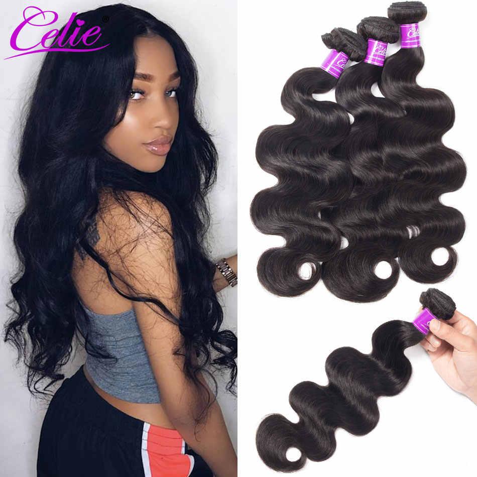 Celie Haar Body Wave Bundels Braziliaanse Haar Weefsel 3 Bundels 10- 30 Inch Remy Hair Extensions 100% Body Wave menselijk Haar Bundels