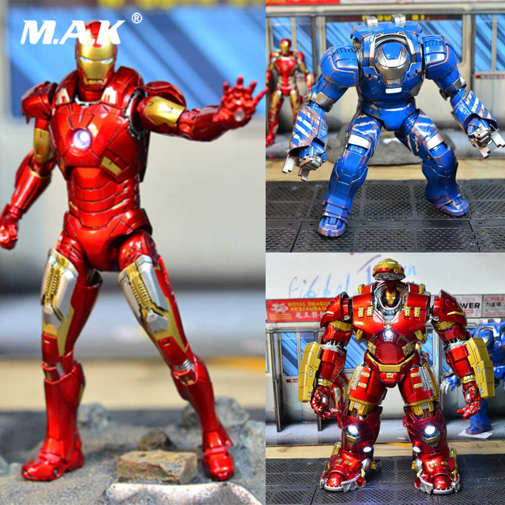 Comicave 1/12 Scale Iron Man 3 Mk7 Mk21 Mk30 Mk33 Mk38 Mk44 Alloy Diecast Full Set Action Figure Doll For Fans Holiday Gifts