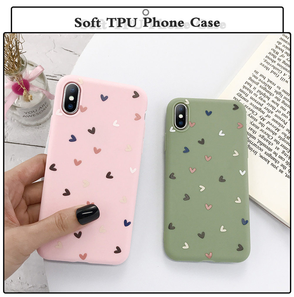 H7de0b30d7bd340feb067c13b81d7381dK - Lovebay Silicone Love Heart Phone Case For iPhone 11 Pro X XR XS Max 7 8 6 6s Plus 5 5s SE Candy Color Shell Soft TPU Back Cover